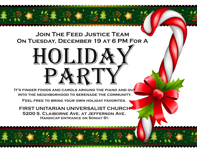 Holiday Party Flyer Dec 2017 – First Unitarian Universalist Church Of New  Orleans